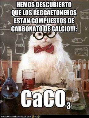 HEMOS DESCUBIERTO  QUE LOS REGGAETONEROS ESTAN COMPUESTOS DE  CARBONATO DE CALCIO!!!: