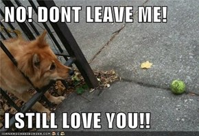 NO! DONT LEAVE ME!  I STILL LOVE YOU!!