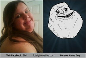 This Facebook  Girl Totally Looks Like Forever Alone Guy