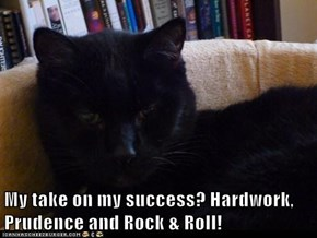 My take on my success? Hardwork, Prudence and Rock & Roll!