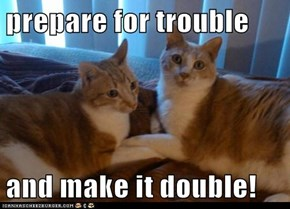prepare for trouble  and make it double!