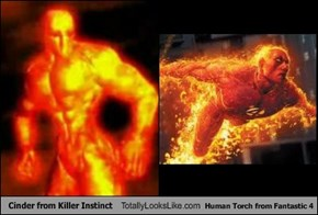 Cinder from Killer Instinct Totally Looks Like Human Torch from Fantastic 4