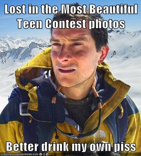 Lost in the Most Beautiful Teen Contest photos  Better drink my own piss