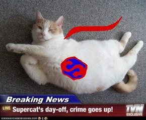 Breaking News - Supercat's day-off, crime goes up!
