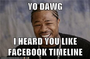 YO DAWG  I HEARD YOU LIKE FACEBOOK TIMELINE