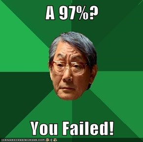 A 97%?  You Failed!