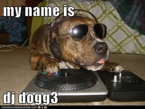 my name is  dj dogg3