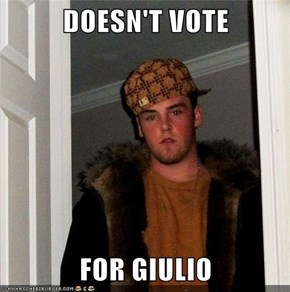 DOESN'T VOTE  FOR GIULIO