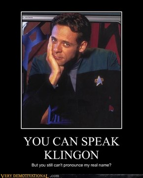 YOU CAN SPEAK KLINGON