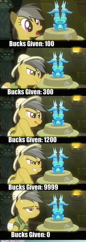 Daring Do Gives No Bucks