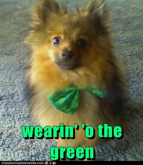wearin' 'o the green
