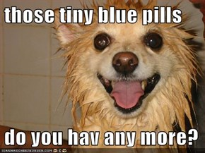 those tiny blue pills  do you hav any more?
