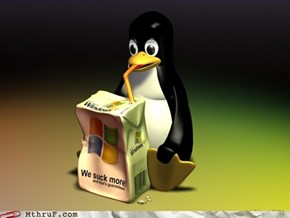 Linux Penguin Develops A Drinking Problem