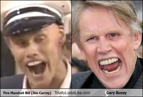 Fire Marshall Bill (Jim Carrey) Totally Looks Like Gary Busey