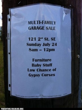 Low Chance Of Gypsy Curses...