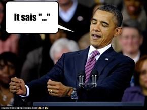 """It sais """"..."""""""