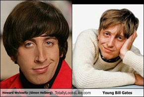 Howard Wolowitz (Simon Helberg) Totally Looks Like Young Bill Gates