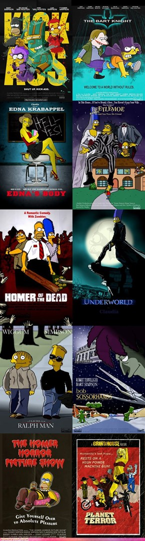 """The Simpsons"" Movie Poster Parodies"