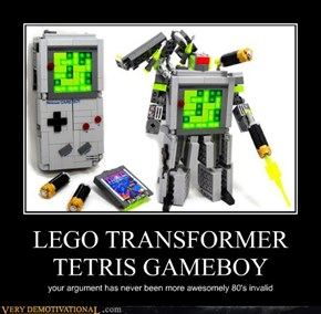 LEGO TRANSFORMER TETRIS GAMEBOY