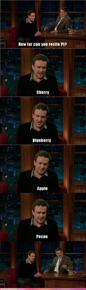 Jason Segel is an Expert on All Things Pi