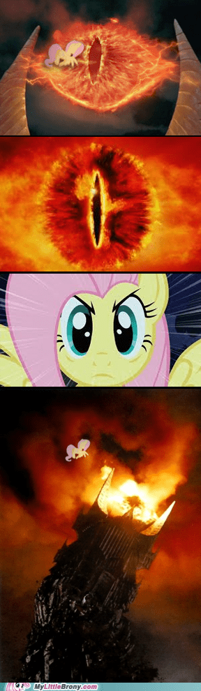 Once again, fluttershy saved the world!