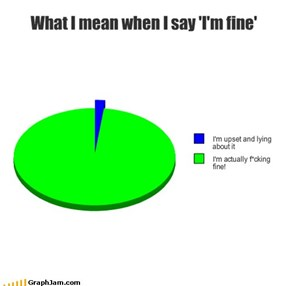 What I mean when I say 'I'm fine'