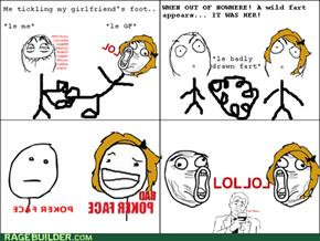 nobody minds a women's fart.
