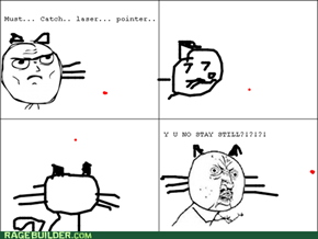 itz impossible to catch laser pointers...