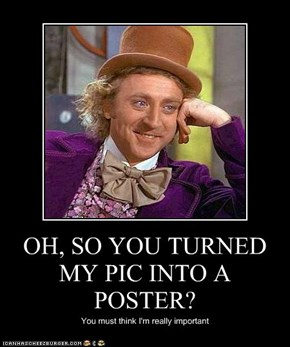 OH, SO YOU TURNED MY PIC INTO A POSTER?