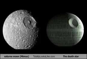 saturns moon (Mimus) Totally Looks Like The death star
