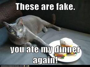 These are fake.  you ate my dinner again!