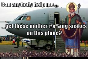 Can anybody help me.. . ...get these mother #&%ing snakes on this plane?