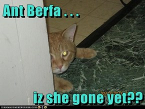 Ant Berfa . . .  iz she gone yet??