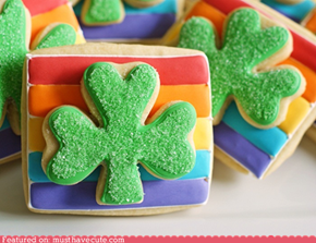 Epicute: Double Decker Shamrock Cookies