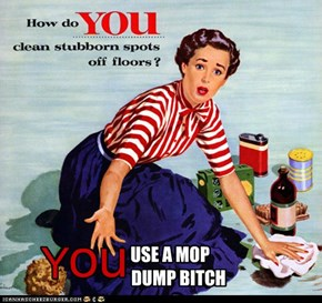 USE A MOP      DUMP BITCH