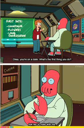 Looking for a Date? Why Not Zoidberg!