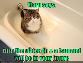 Maru says:  turn the water on & a tsunami will be in your future