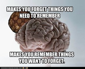 Scumbag Brain : there's a difference between what you need and what you want.