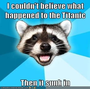 I couldn't believe what  happened to the Titanic  Then it sunk in