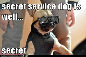 secret service dog is well...  secret