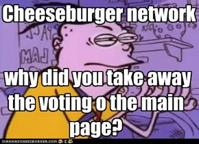 why did you take away the voting o the main page?