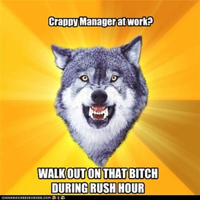 Crappy Manager at work?