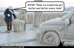 WOW! These ice sculptures get better and better every time!!