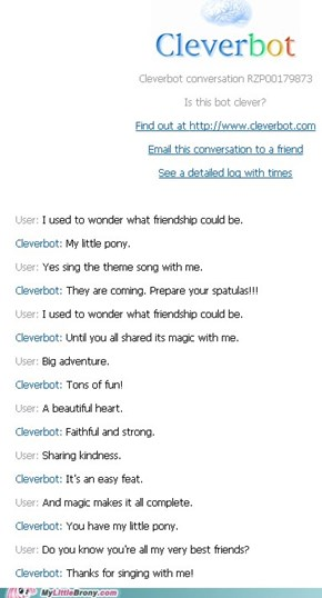 Clever bot is a Brony