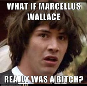WHAT IF MARCELLUS WALLACE  REALLY WAS A BITCH?