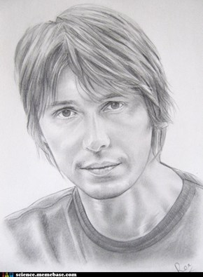 Portrait of Professor Brian Cox