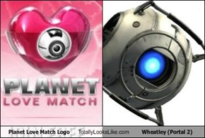 Planet Love Match Logo Totally Looks Like Wheatley (Portal 2)