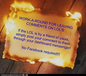 Leave LOL Comments to Friends via Dashboard Messenger!