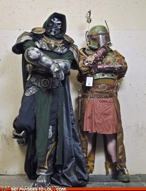 Steampunk Doom and Boba Fett