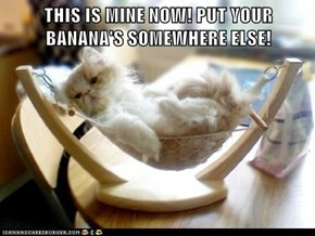 THIS IS MINE NOW! PUT YOUR BANANA'S SOMEWHERE ELSE!